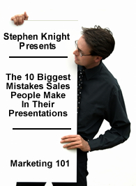 10 biggest mistakes sales people make in their presentations